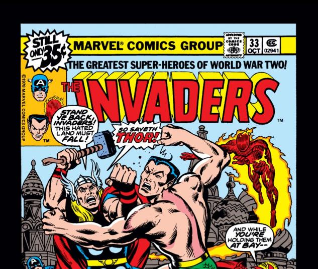 Invaders (1975) #33 Cover