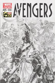 Avengers #25  (Ross 75th Anniversary Sketch Variant)