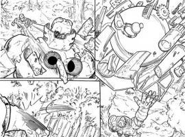 WAR MACHINE #10 inked preview art by Allan Jefferson & Nelson Pereira