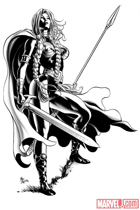 Valkyrie promo by Mike Deodato