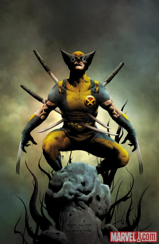 WOLVERINE #1 (2010) cover by Jae Lee