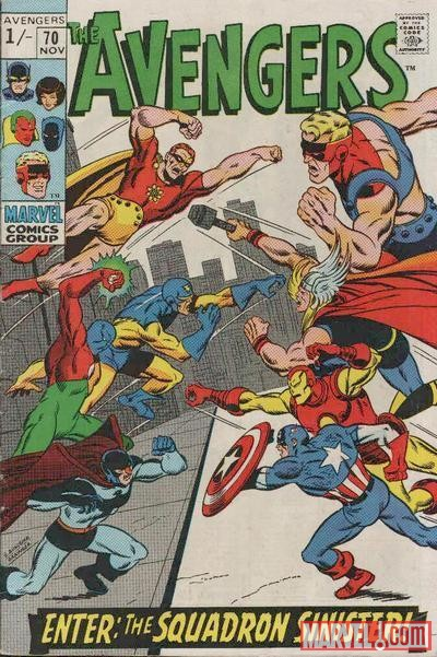 Image Featuring Iron Man, Thor, Nighthawk, Doctor Spectrum, Speed Demon, Avengers, Captain America