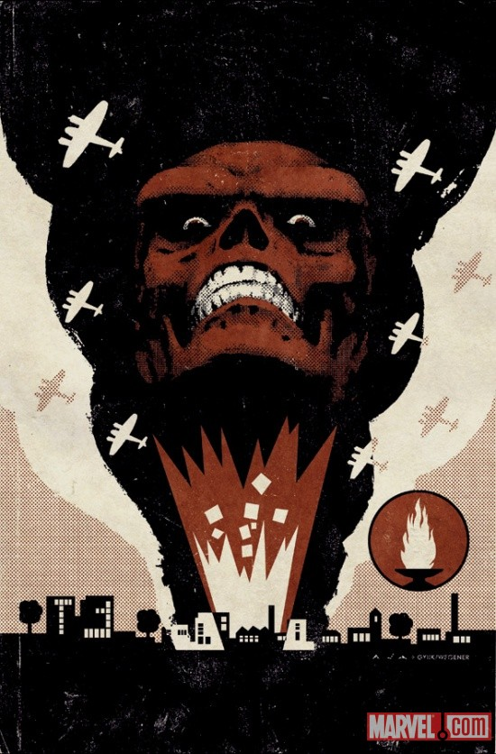 Red Skull cover art by David Aja