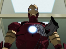 Screenshot of the Iron Man armor from Iron Man anime