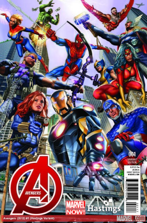 AVENGERS 1 HASTINGS VARIANT (NOW, WITH DIGITAL CODE)