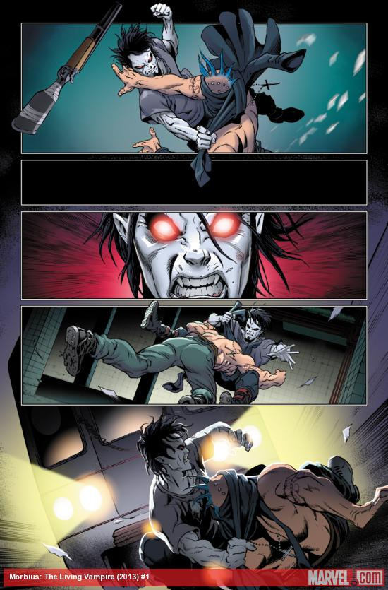 Morbius: The Living Vampire #1 preview art by Rich Elson