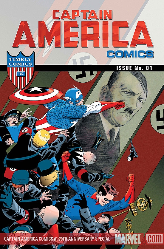 Captain America Comics 70th Anniversary Special #1 cover by Marcos Martin