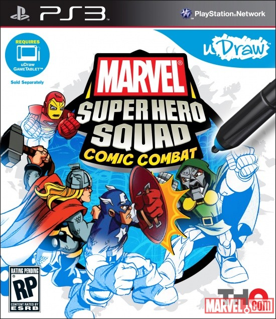Super Hero Squad: Comic Combat PlayStation 3 box art