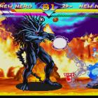 Screenshot of Wolverine vs. Blackheart in Marvel vs. Capcom Origins