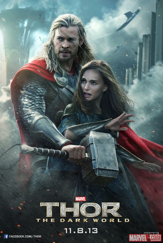 Thor and Jane Foster character poster from Marvel's Thor: The Dark World