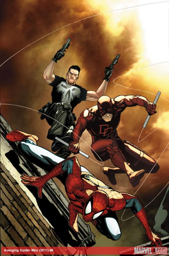 Avenging Spider-Man #6 cover art by Steve McNiven