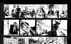 Daredevil: End of Days #1 preview inks by Klaus Janson & Bill Sienkiewicz
