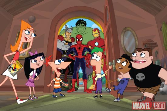 Phineas and Ferb: Mission Marvel Preview Art