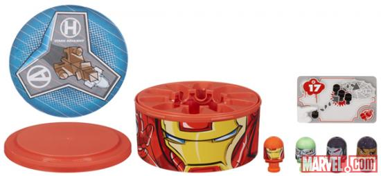 Iron Man, Doctor Doom, War Machine and Nick Fury Marvel Bonkazonks with Iron Man Face Case
