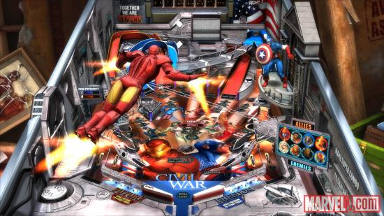 Iron Man takes flight in Marvel Pinball: Civil War
