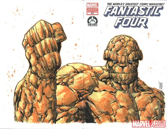 Fantastic Four #600 Hero Initiative variant cover by Giuseppe Camuncoli