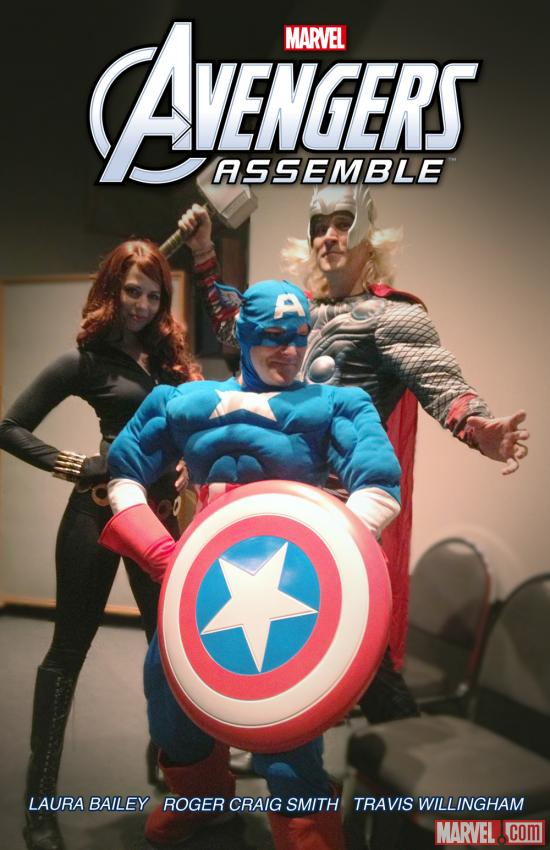 The cast of Marvel's Avengers Assemble dressed up for Halloween