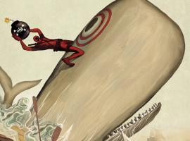 Deadpool Killustrated #1 Second Printing variant cover by Michael Del Mundo