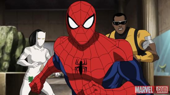 Spider-Man stands with Power Man and White Tiger