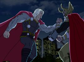 Thor and Odin come together in Marvel's Avengers Assemble - All-Father's Day