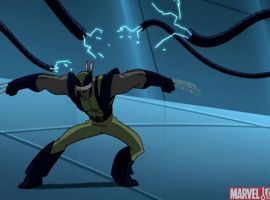 A blindfolded Wolverine attacks