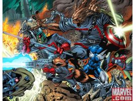 GUARDIANS OF THE GALAXY #7 preview art by Paul Pelletier