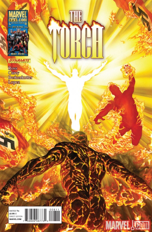 TORCH #8 cover art by Alex Ross