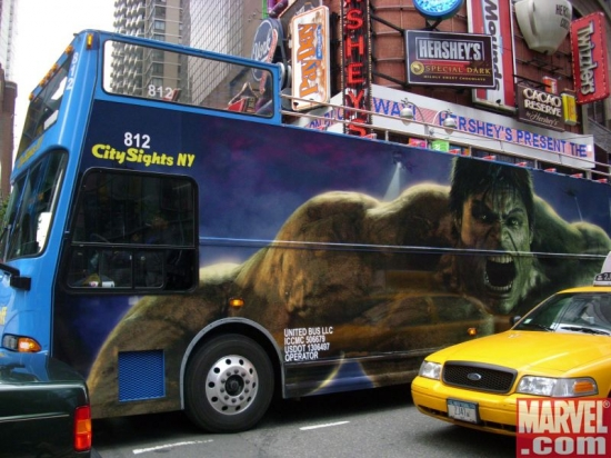 Hulk Bus smash puny cab!