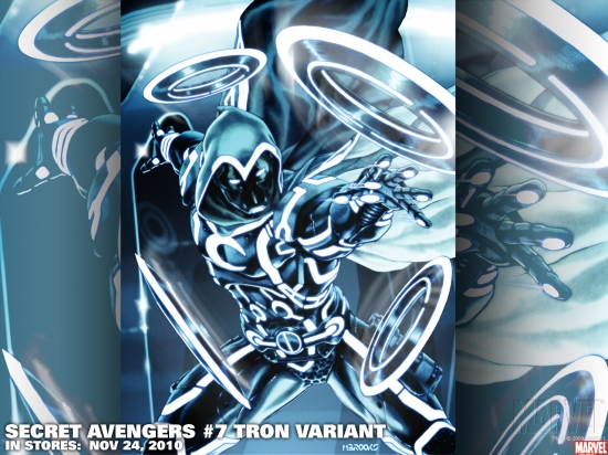 Secret Avengers #7 TRON Variant, featuring Moon Knight