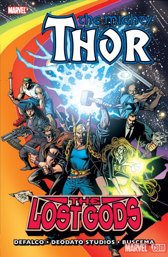 THOR: THE LOST GODS TPB cover by Mike Deodato