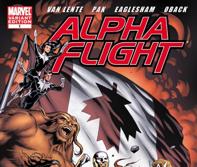 Alpha Flight (2011) #1 variant cover by Dale Eaglesham