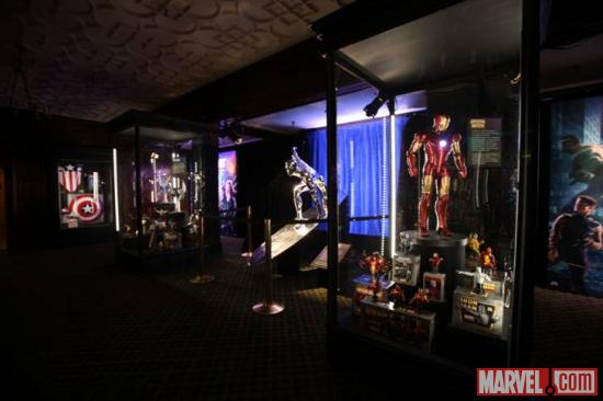 Marvel's The Avengers costumes at the El Capitan Theatre in Hollywood