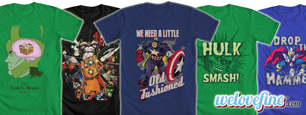 New Avengers Tees from Mighty Fine