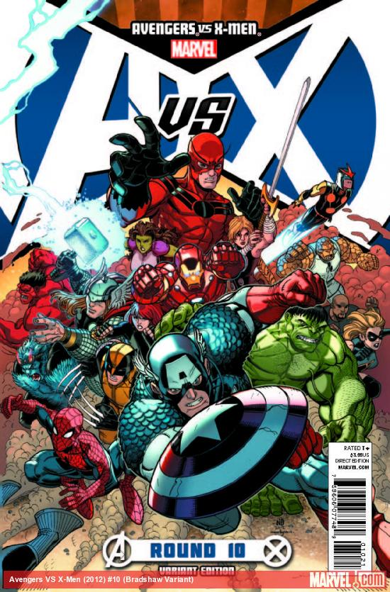 AVENGERS VS. X-MEN 10 BRADSHAW VARIANT (1 FOR 100, WITH DIGITAL CODE)
