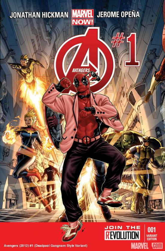 cover from Avengers (2012) #1 (DEADPOOL STYLE VARIANT)