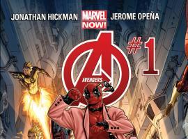 cover from Avengers (2012) #1 (DEADPOOL STYLE VARIANT)