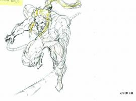 Pencil art of Omega Red from the Wolverine anime