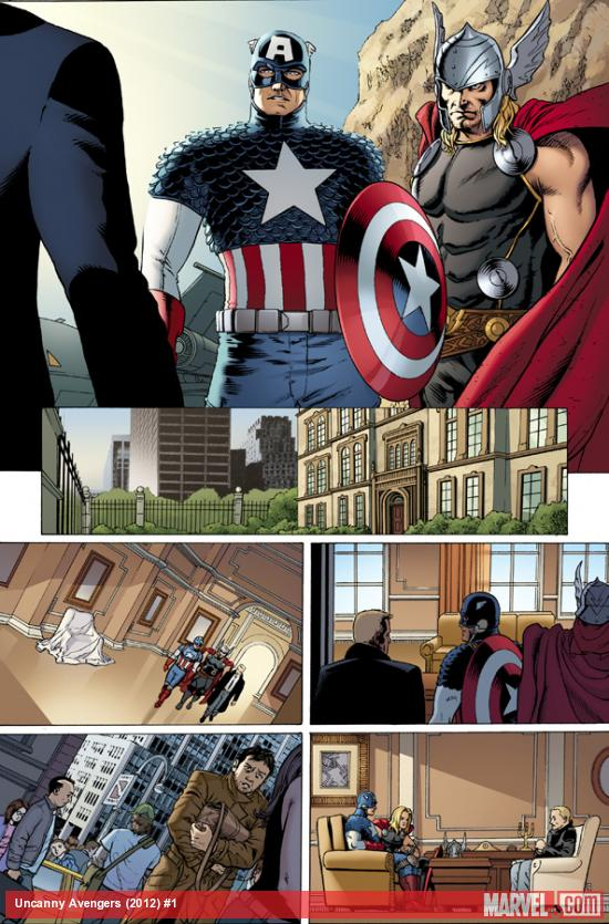 Uncanny Avengers #1 preview art by John Cassaday