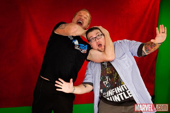 Diamond Dallas Page and Agent M at Marvel HQ