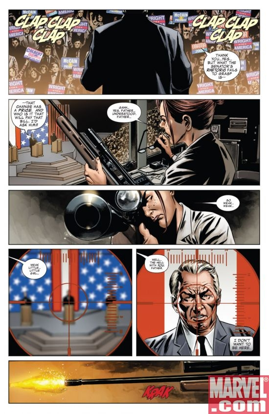 Colbert '08 Easter Egg from CAPTAIN AMERICA #41