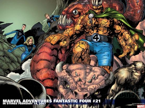 Marvel Adventures Fantastic Four (2005) #21 Wallpaper