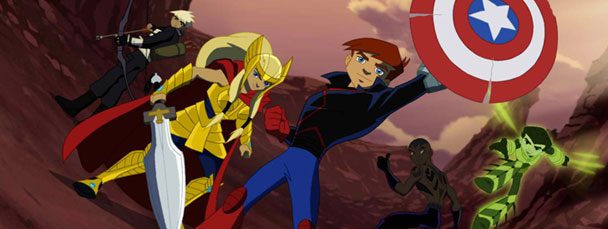 ... eric loomis and other the agents of The Next Avengers Animated Movie