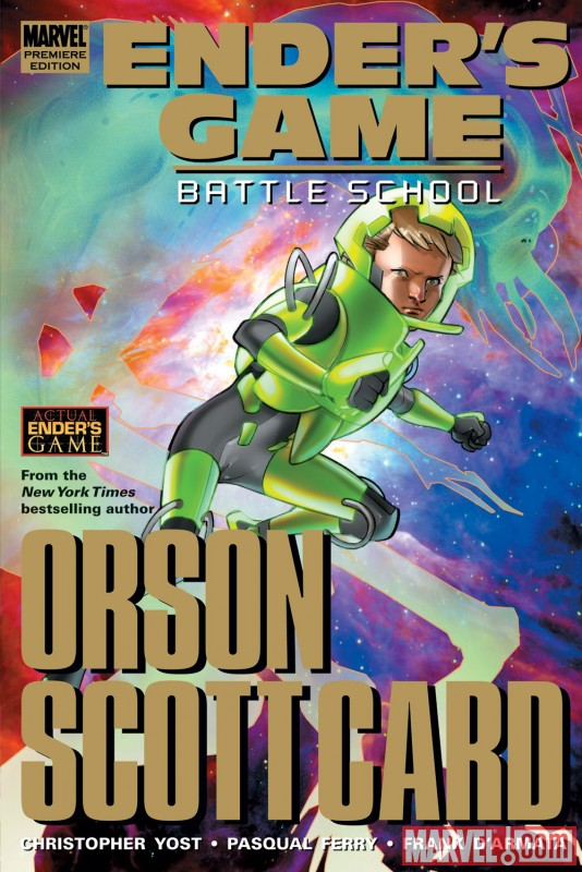 ENDER'S GAME: BATTLE SCHOOL hardcover collection cover by Pasqual Ferry