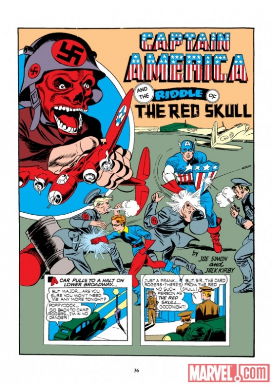 Image Featuring Captain America, Red Skull
