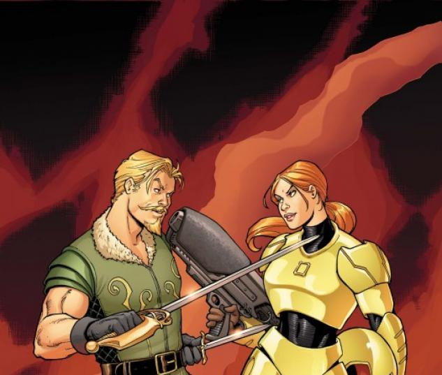 Warriors Three #2 cover by Amanda Conner