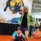 Scarlet Spider and Gwen Stacey cosplayers at Fan Expo Canada