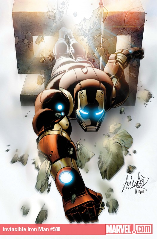 Invincible Iron Man #500 cover
