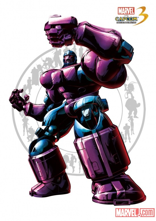 Sentinel character art from Marvel vs. Capcom 3