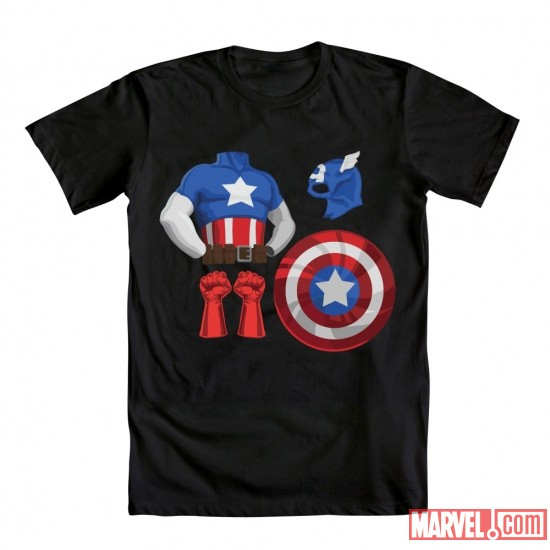 Captain America Costume Tee by Mighty Fine