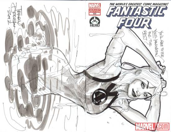 Fantastic Four #600 Hero Initiative variant cover by Terry Dodson